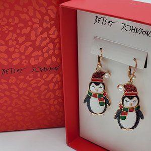 Betsey Johnson Penguin Earrings - NWT